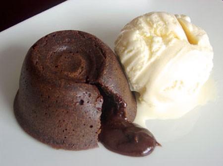 Petit Gâteau au Chocolat Chaud