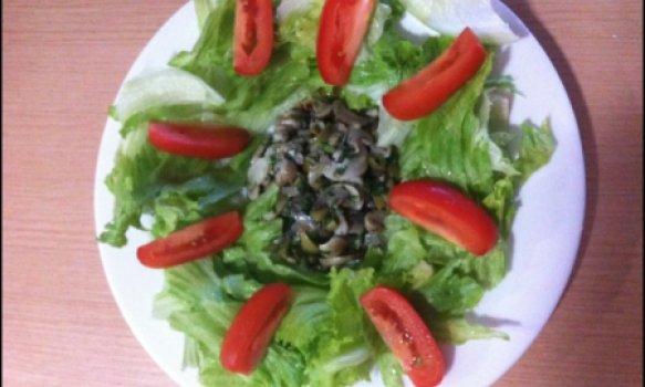 Salada de Cogumelos Shimeji