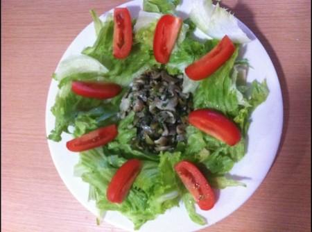Salada de Cogumelos Shimeji | Lazaro Caetano