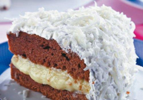 bolo gelado de abacaxi com coco