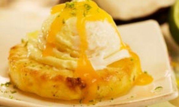 Abacaxi Grelhado Com Raspas de Limão