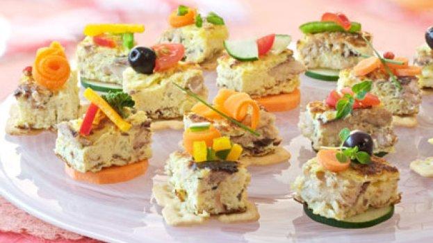 Canapés de Omelete de Sardinha