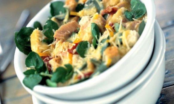 Salada Caesar de Agrião