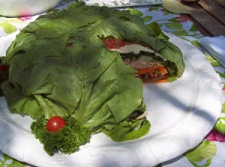 Salada em Camadas