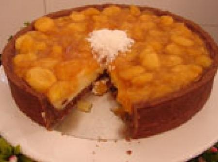 Torta de coco com banana