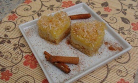Torta de coco crocante da Abima