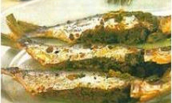 Sardinha recheada com alho