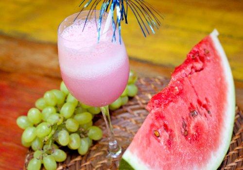 Vitamina de Melancia e Uva