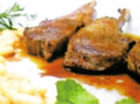 Bisteca de cordeiro aromática