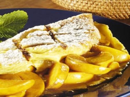 Omelete-suflê de pêssego