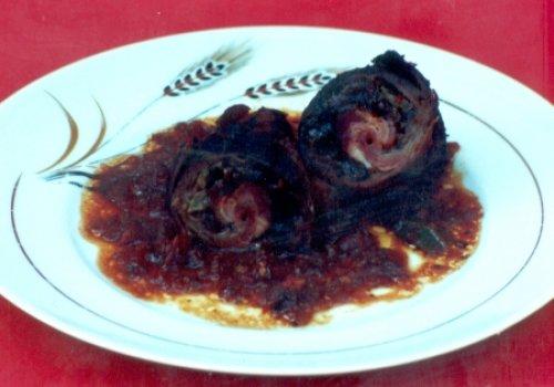 Carne Enrolada com Ameixa