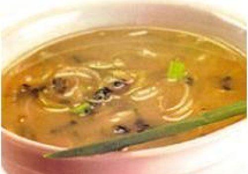 Sopa de batata doce com alho poró