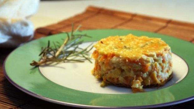 Torta de Milho Verde, Cenoura e Agrião