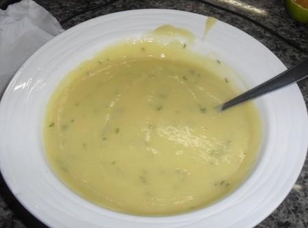 Sopa de Milho Verde com Carne de Porco   Gabriele