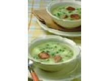 Sopa de alho poró com batata