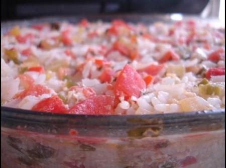Arroz de Forno com Tomate e Pimentão | ana lucia brito