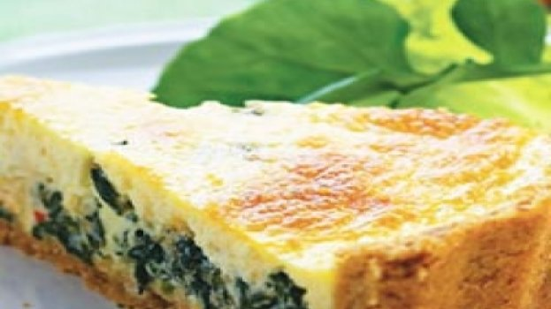 Cheesecake Salgado de Espinafre