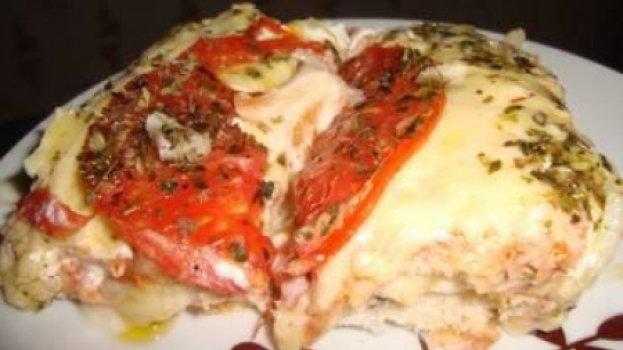 Pizza de tabuleiro com pão de forma