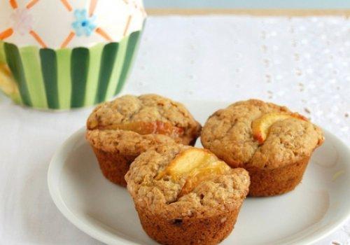 Muffins de Gengibre e Pêssego
