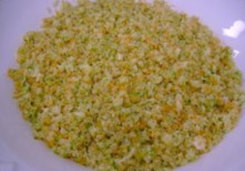 Quinoa com palmito e legumes brunoise