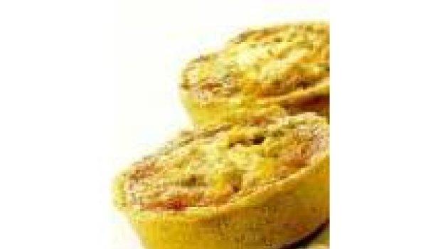 Tortinha de legumes com cream cheese