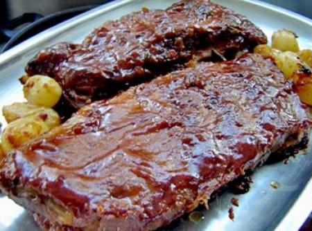 Costelinha de Porco ao Barbecue   Reinaldo Guerrero Junior