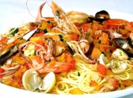 Espaquete com frutos do mar
