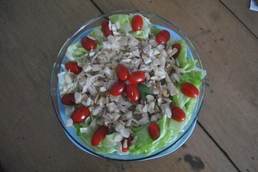 Salada de Frango Defumado com Abacaxi