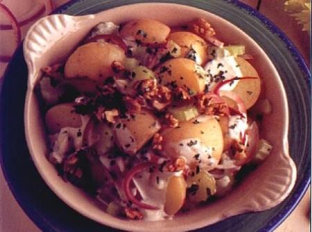 Batatas com blue cheese