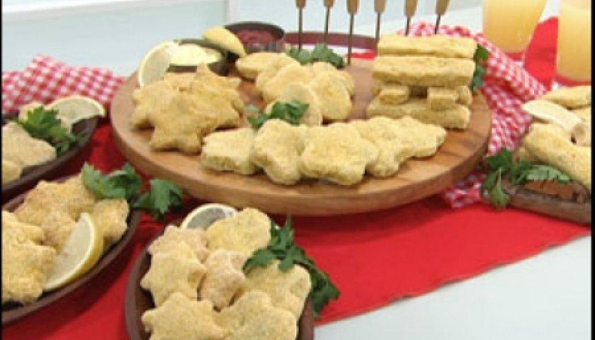 Empanados de frango (Nuggets caseiro)