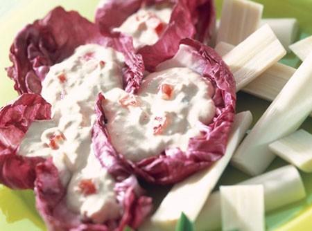Salada de Palmito e Radicchio ao Creme de Atum