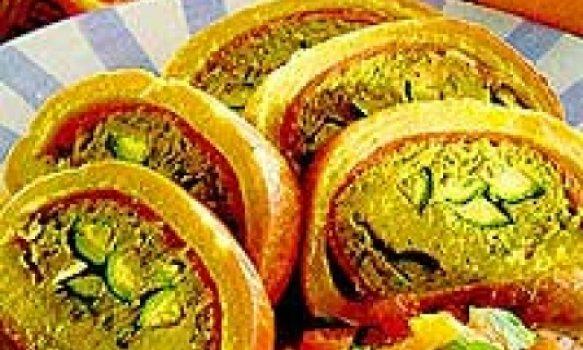 Rocombole de batata com atum