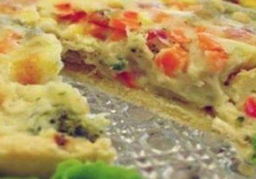 Torta de legumes com frango