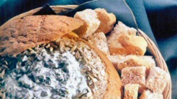 Creme de Espinafre no Pão Italiano