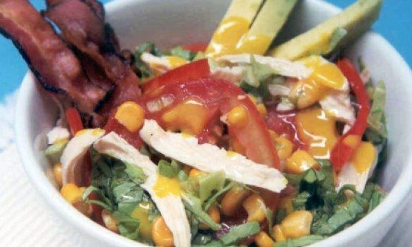 Salada de Frango com Bacon