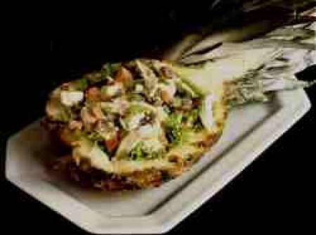 Salada de frango de bali