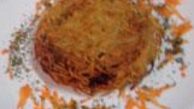 Batata Suiça com carne seca