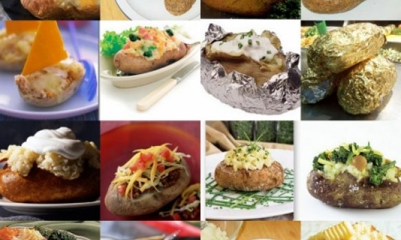 Batatas recheadas - Baked Potatoes (batatas assadas)