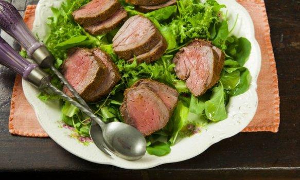 Rosbife de Migon com Salada Verde