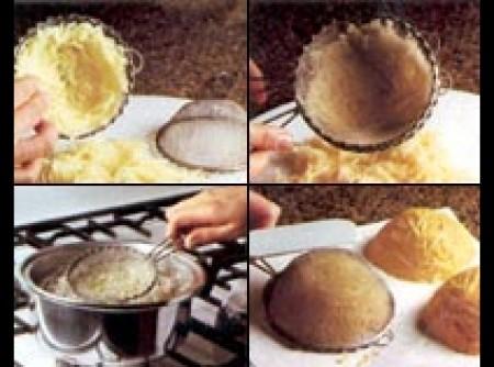 Cestinha de Batata Palha (faça a sua e coloque o seu recheio)