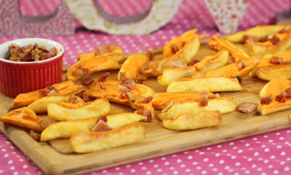 Petisco de Batata, Cheddar e Bacon
