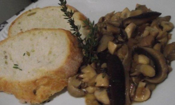 Pão Italiano com Shiitake, Shimeji e Cogumelo de Paris
