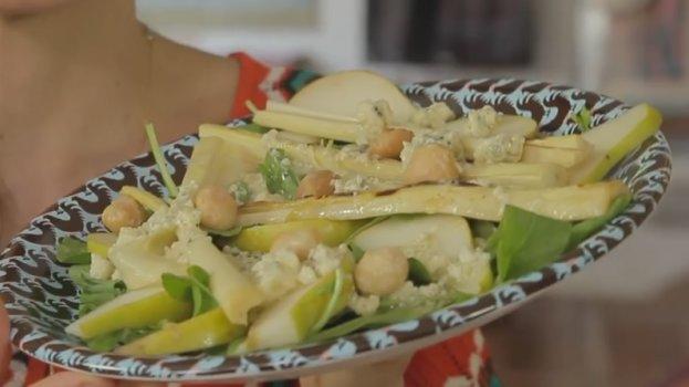 Palmito Assado com Salada de Rúcula
