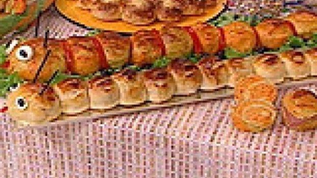 Pão de Cenoura e Aveia em Formato de Centopéia