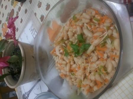 Salada de Feijão Branco com Repolho