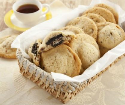 Crocantes Recheados de Biscoito de Chocolate
