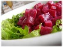 Salada de beterraba com molho de iogurte e mel