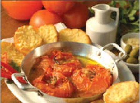 Tomate recheado à Júlia