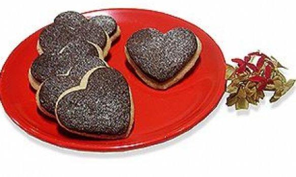 Casadinhos de chocolate e doce de leite