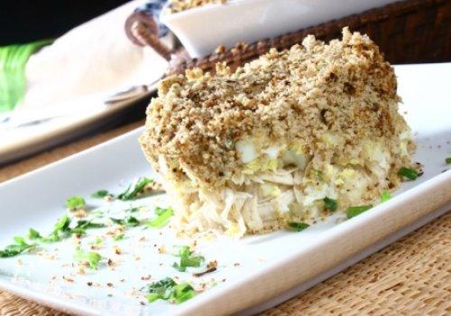 Torta de Frango com Purê de Batatas e Aveia